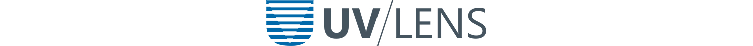 UV-Lens logo. Mobile streaming of live video to the Enterprise